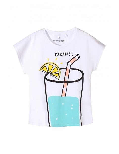 Bluzka z krótkim rękawem dla dziewczynki- lemoniada