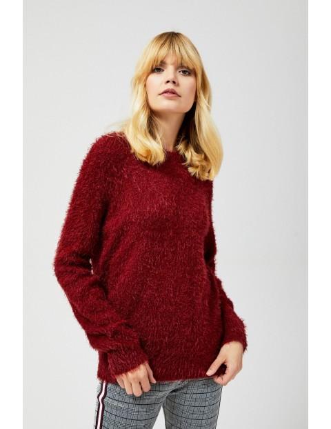 Sweter damski bordowy