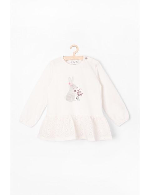Bluzka niemowlęca z zajączkiem - ECRU