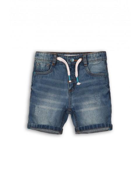 Spodenki jeansowe dla niemowlaka