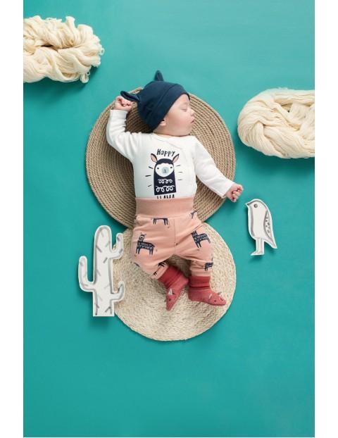 Spodnie niemowlęce dzianinowe w lamy