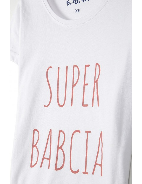 T-shirt damski Super babcia