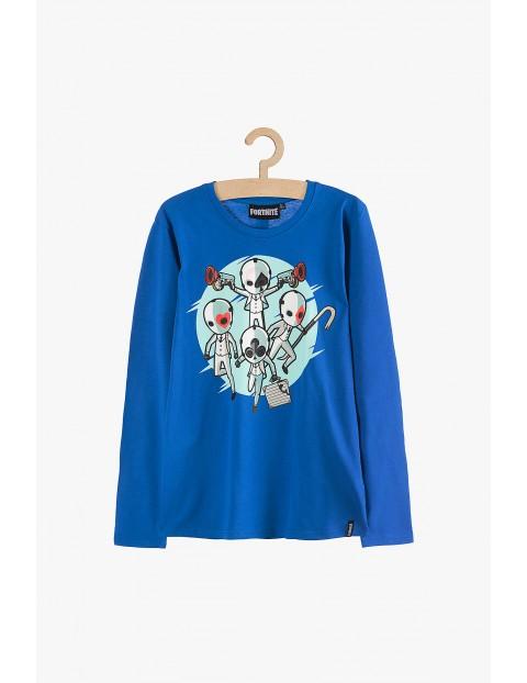 Bluzka dla chłopca - Fortnite niebieska