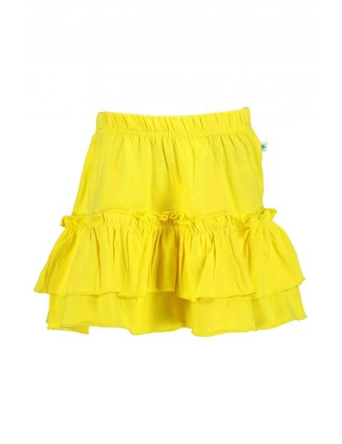 Spódnica dziewczęca żółta z falbankami