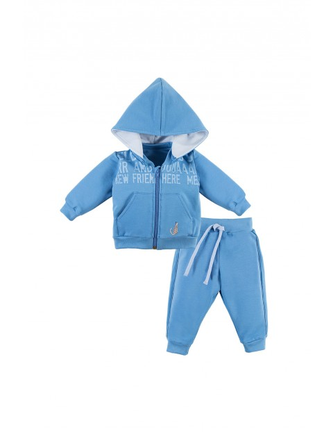 Komplet niemowlęcy dresowy NATURE niebieski