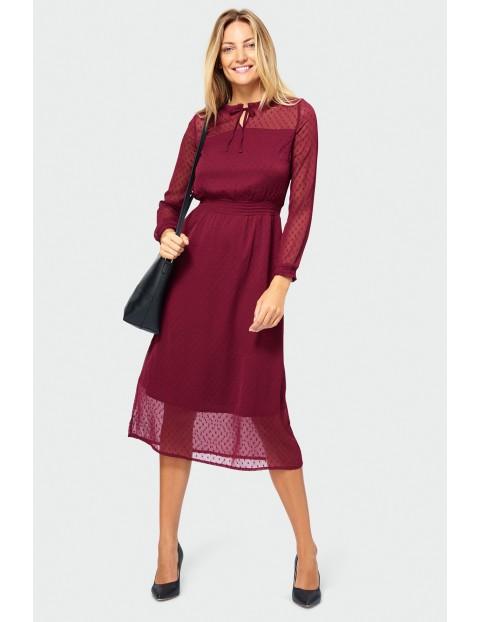 Sukienka damska- bordowa