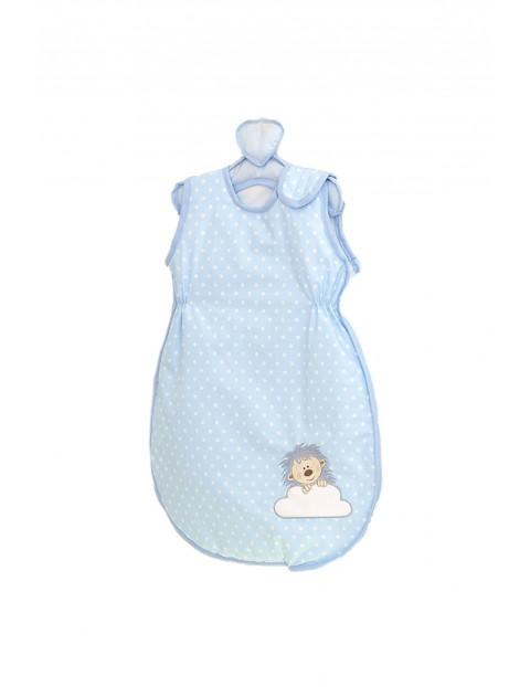 Śpiworek do łóżeczka Amy Jeżyk niebieski