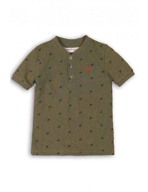 Zielony t-shirt niemowlęcy w palmy