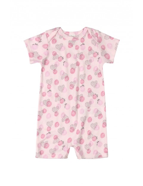 Rampers niemowlęcy - różowy
