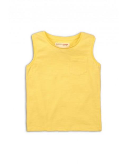Bluzka chłopięca żółta- 100% bawełna