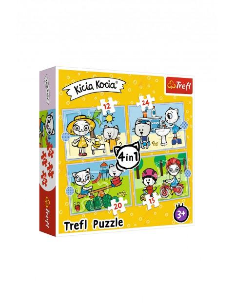 Puzzle Trefl 4w1- Dzień Kici Koci wiek 3+