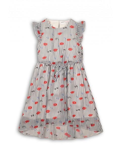 Sukienka dziewczęca z krótkim rękawem na lato