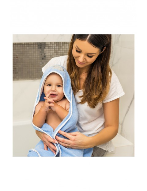 Okrycie kąpielowe welurowe – ręcznik z kapturkiem 85x85cm