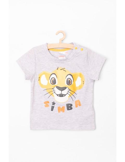T-Shirt niemowlęcy szary Simba