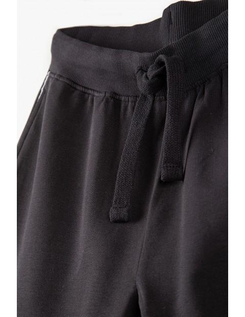 Spodnie dresowe dla mamy i córki- czarne z lampasem - Razem najlepiej