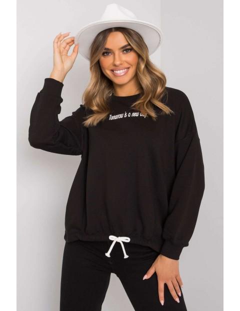 Czarna bluza damska bez kaptura