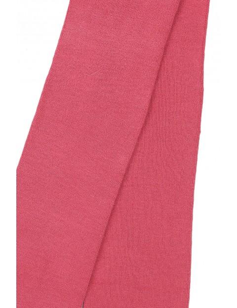 Rajstopy dziewczęce różowe - gładkie