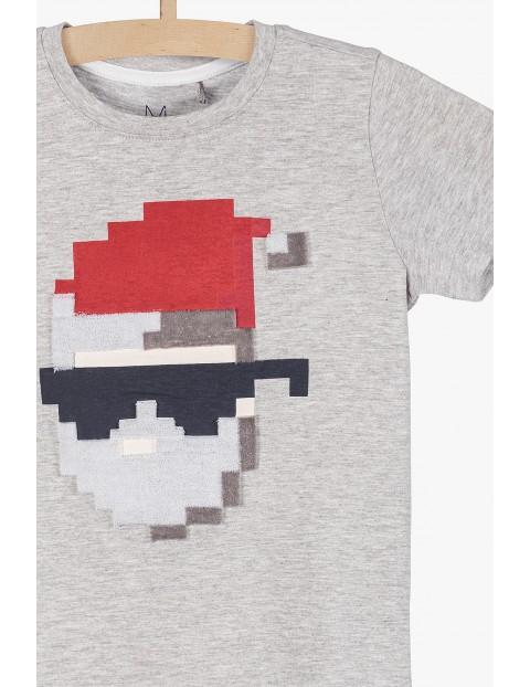 T-shirt dzianinowy dla chłopca z motywem świątecznym