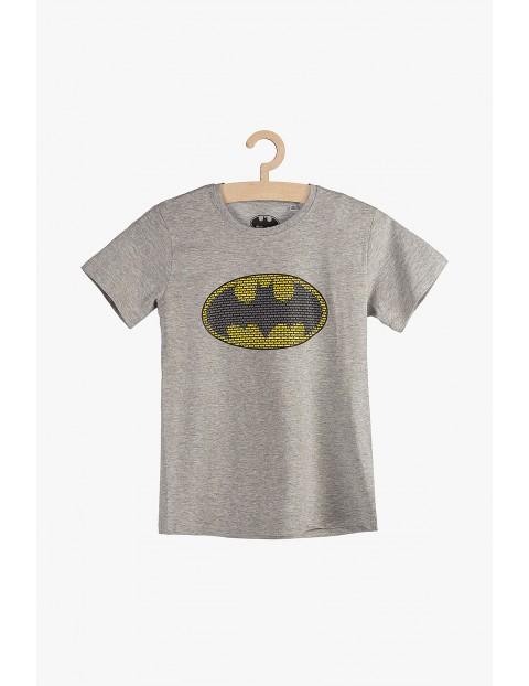 T-Shirt chłopięcy Batman - szary