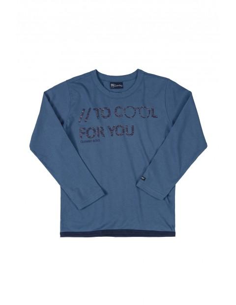Bluzka chłopięca - niebieska z długim rekawem