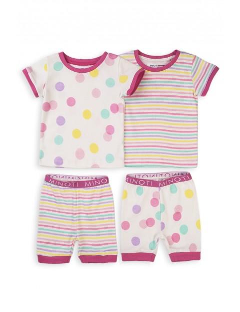 Piżama niemowlęca z krótkim rękawem- 2pak