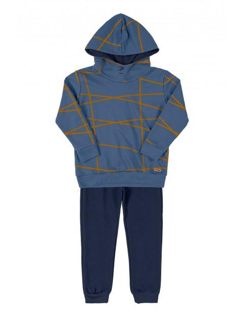 Komplet chłopięcy niebieska bluza dresowa i granatowe spodnie