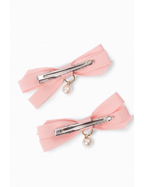 Spinki do włosów dla dziewczynki kokardki - różowa