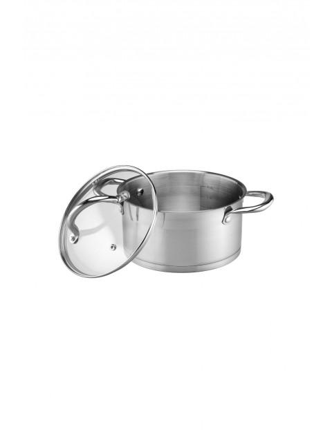 Garnek ze stali nierdzewnej w kolorze srebrnym - średnica 18 cm