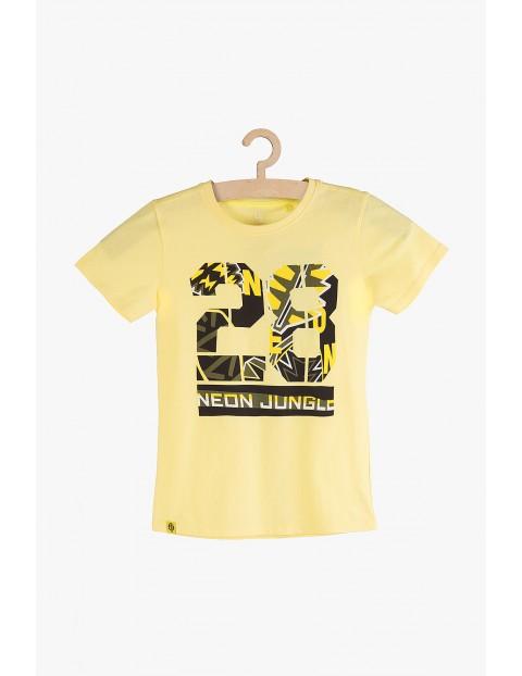 T-shirt chłopięcy bawełniany - Neon Jungle