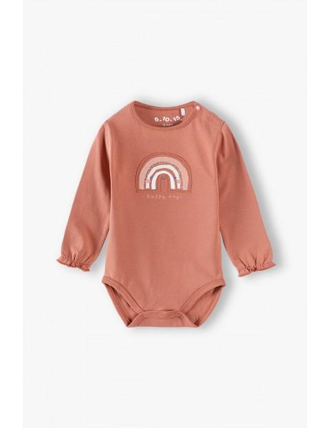 Body niemowlęce - happy days -długi ozdobny rękaw