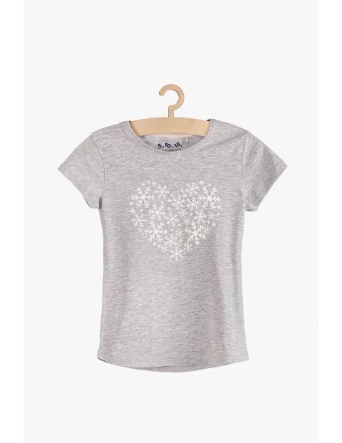 Szary t-shirt dla dziewczynki
