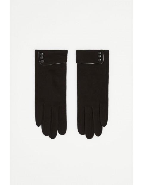 Rękawiczki damskie czarne z ociepleniem
