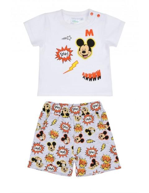 Dwuczęściowy komplet na lato dla niemowlaka- t-shirt i spodenki Mickey Mouse