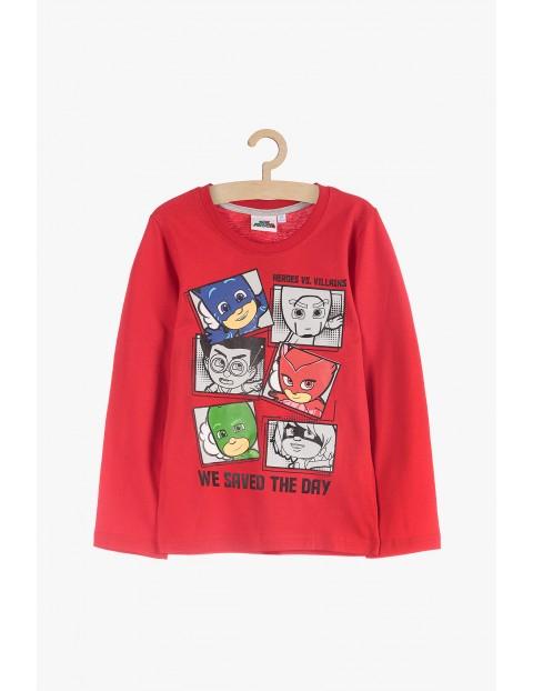 Czerwona bluzka z nadrukami Pidżamersi