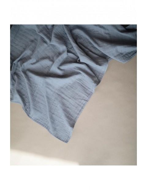 Mushie - otulacz kocyk letni 100% organic cotton Tradewinds - szary
