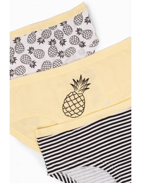 Majtki dziewczęce - Ananasy