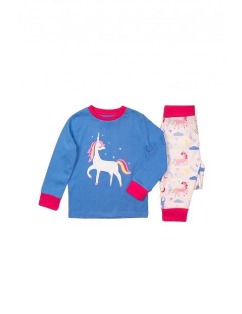 Pidżama dziewczęca niebieska - Jednorożec