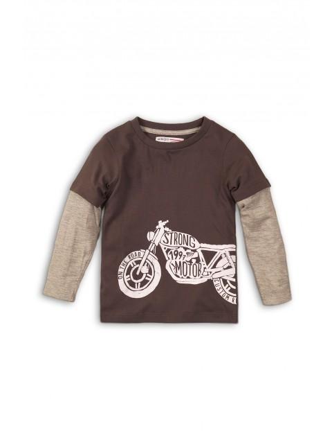 Bluzka niemowlęca z motocyklem