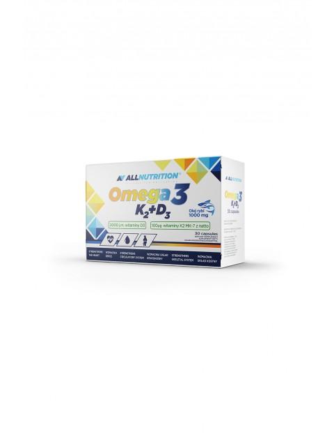 Suplementy diety - Allnutrition  Omega 3 D3 K2 -  30 kapsułek
