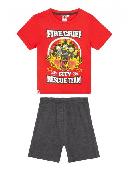 Piżama chłopięca Lego City- czerwona