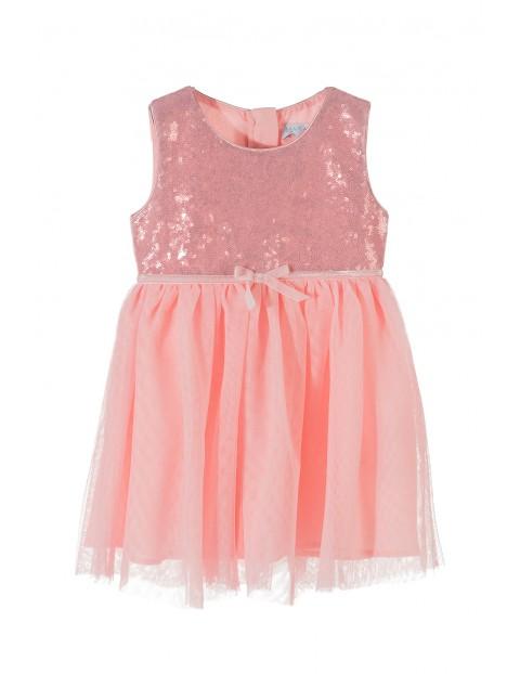 Sukienka dziewczęca tiulowa 3K3513