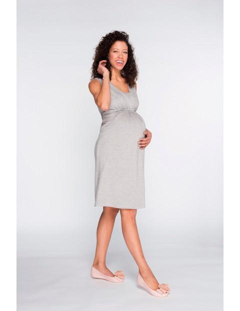 Sukienka ciążowa na ramiączka Classic Grey