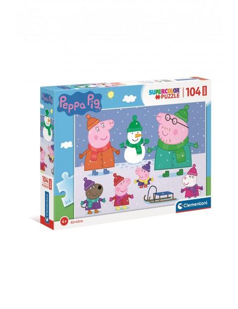 Puzzle 104 maxi super color Świnka Peppa 23752