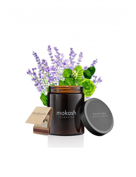 Roślinna świeca sojowa Sielska łąka MOKOSH - 140g