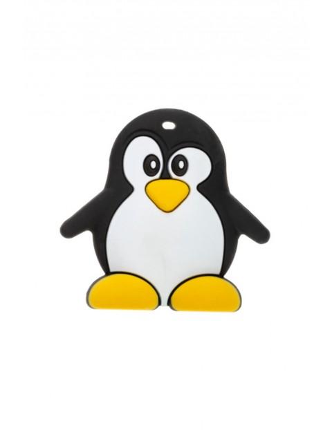 Gryzak silikonowy Pingwin - czarny wiek 0msc+