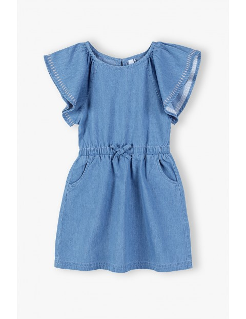 Sukienka na krótki rękaw - niebieska
