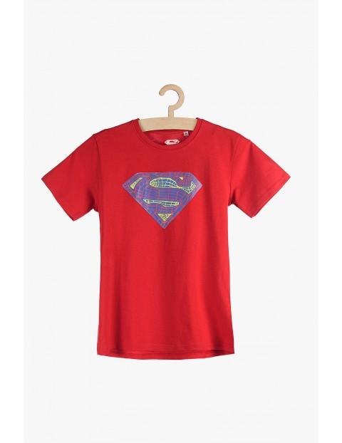 T-shirt chłopięcy czerwony Superman- 100%bawełna