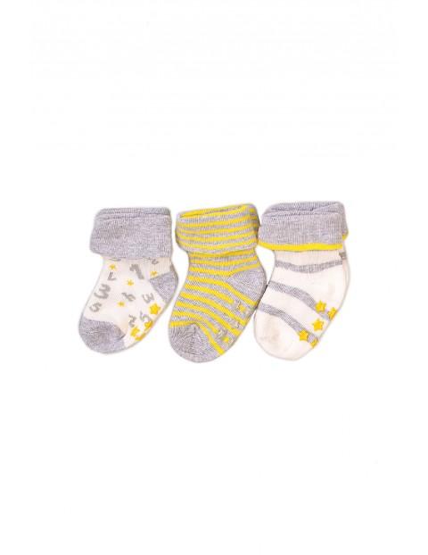 Skarpetki niemowlęce we wzory 3-pak