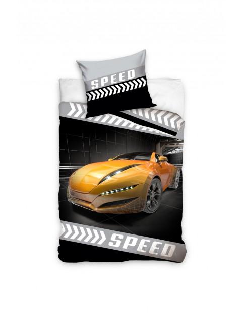 Pościel bawełniana Auto Sped 160x200+70x80 cm