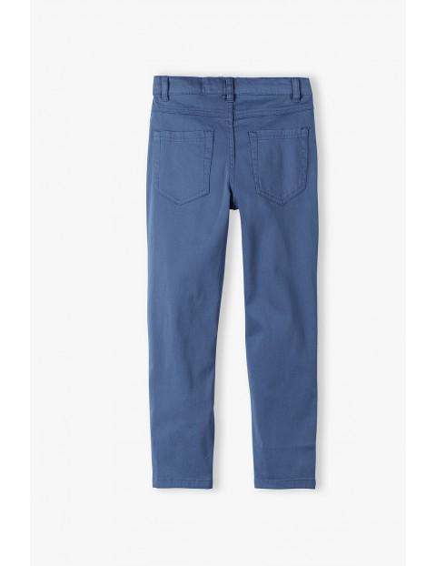 Spodnie chłopięce o klasycznym kroju - niebieskie